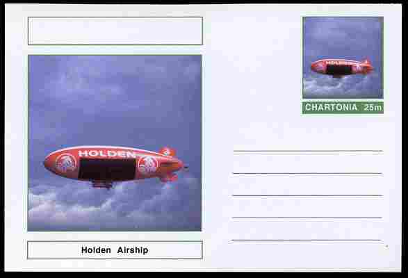 Chartonia (Fantasy) Airships & Balloons - Holden Airship postal stationery card unused and fine