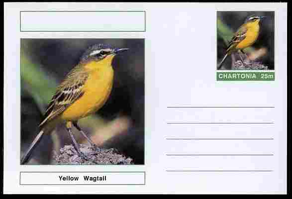 Chartonia (Fantasy) Birds - Yellow Wagtail postal stationery card unused and fine