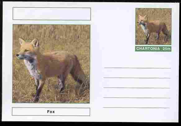 Chartonia (Fantasy) Animals - Fox postal stationery card unused and fine