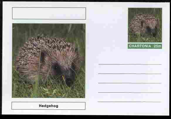 Chartonia (Fantasy) Animals - Hedgehogs postal stationery card unused and fine