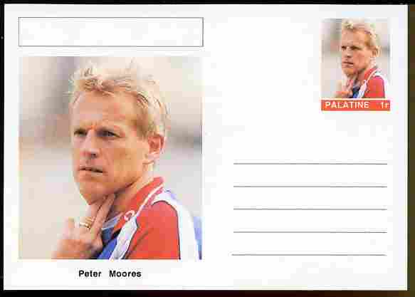Palatine (Fantasy) Personalities - Peter Moores (cricket) postal stationery card unused and fine