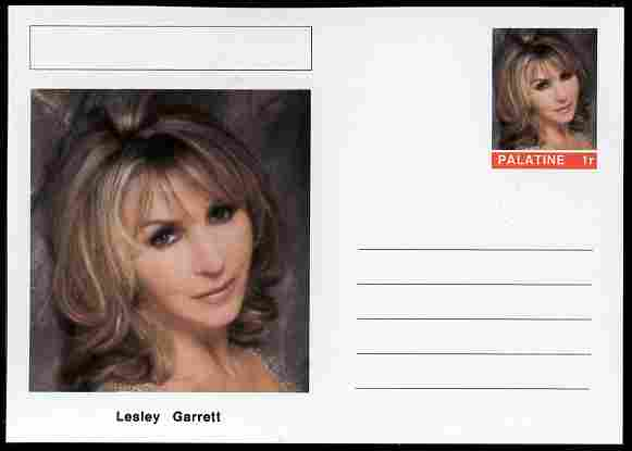 Palatine (Fantasy) Personalities - Lesley Garrett (opera) postal stationery card unused and fine