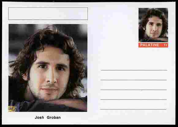 Palatine (Fantasy) Personalities - Josh Groban (opera) postal stationery card unused and fine