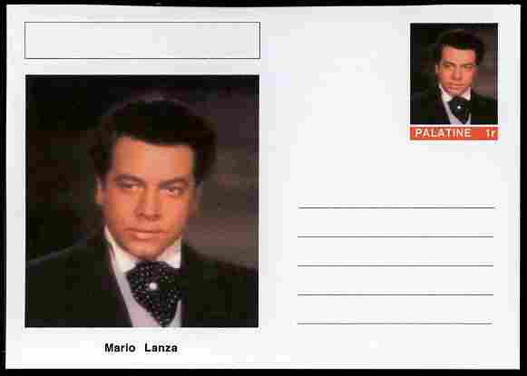 Palatine (Fantasy) Personalities - Mario Lanza (opera) postal stationery card unused and fine