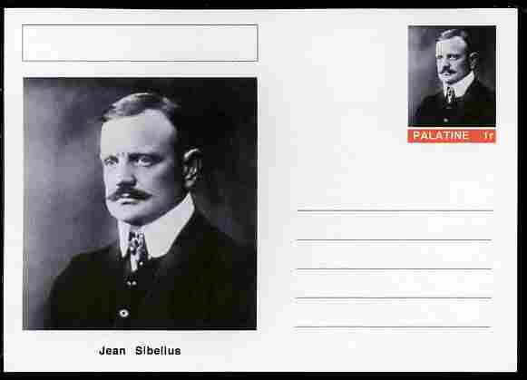 Palatine (Fantasy) Personalities - Jean Sibelius (composer) postal stationery card unused and fine
