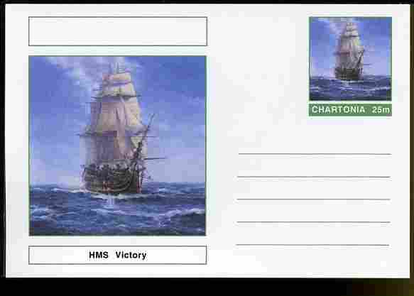 Chartonia (Fantasy) Ships - HMS Victory postal stationery card unused and fine