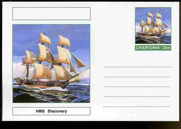 Chartonia (Fantasy) Ships - HMS Discovery postal stationery card unused and fine