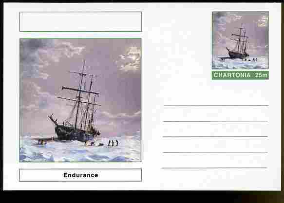 Chartonia (Fantasy) Ships - Endurance postal stationery card unused and fine