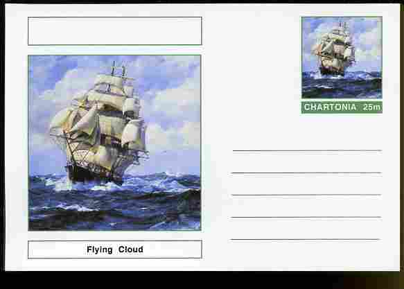 Chartonia (Fantasy) Ships - Flying Cloud postal stationery card unused and fine