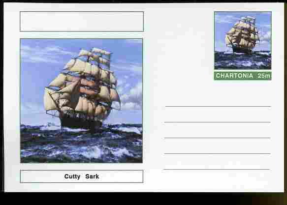 Chartonia (Fantasy) Ships - Cutty Sark postal stationery card unused and fine