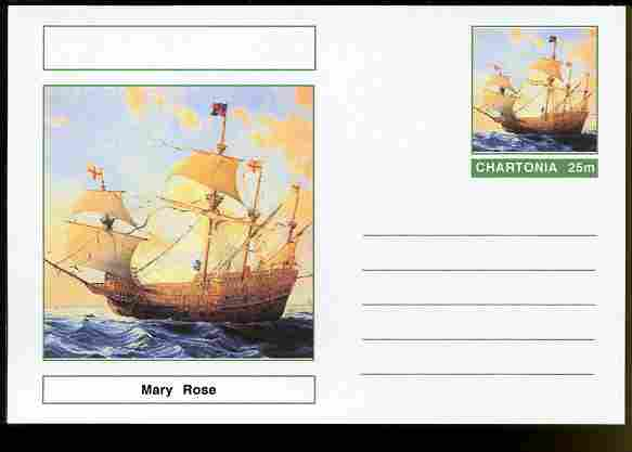 Chartonia (Fantasy) Ships - Mary Rose postal stationery card unused and fine