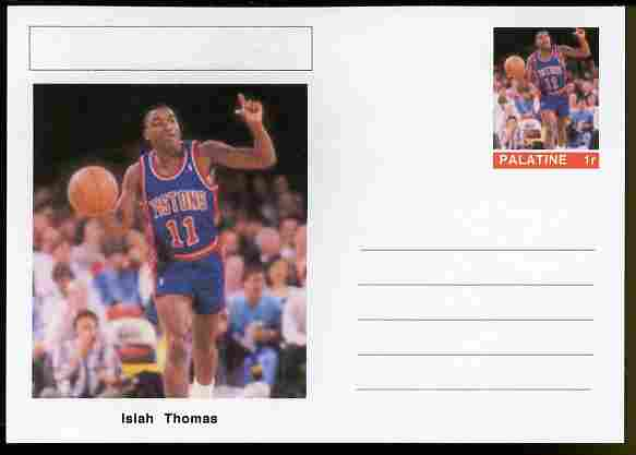 Palatine (Fantasy) Personalities - Isiah Thomas (basketball) postal stationery card unused and fine