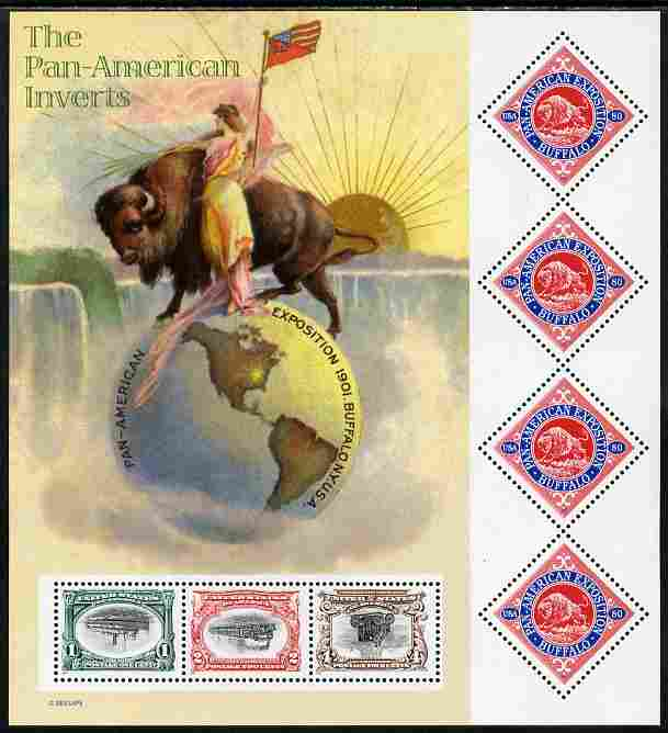 United States 2001 Pan American Inverts m/sheet unmounted mint SG 3971a