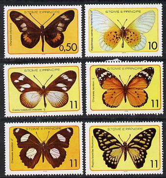 St Thomas & Prince Islands 1979 Butterflies set of 6 unmounted mint (Mi 561-66)