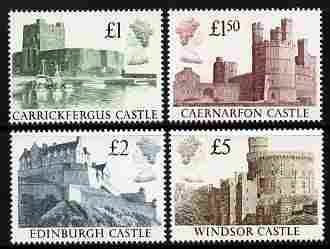 Great Britain 1988 Castle High Value set of 4 unmounted mint, SG 1410-13