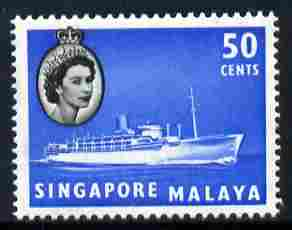 Singapore 1955-59 Chusan III 50c unmounted mint, SG 49