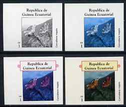 Equatorial Guinea 1977 Flowers EK1 (Convallaria majalis) set of 4 imperf progressive proofs on ungummed paper comprising 1, 2, 3 and all 4 colours (as Mi 1213)