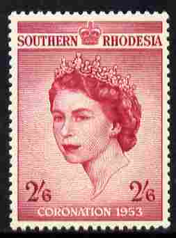 Southern Rhodesia 1953 Coronation 2s6d unmounted mint SG 77