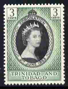 Trinidad & Tobago 1953 Coronation 3c unmounted mint SG 279