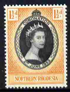 Northern Rhodesia 1953 Coronation 1.5d unmounted mint SG 60