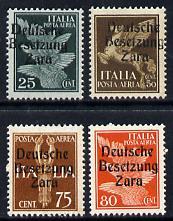 German Occupation of Dalmatia (Zara) 1943 4 values opt