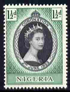 Nigeria 1953 Coronation 1.5d unmounted mint SG 68