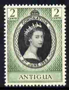 Antigua 1953 Coronation 2c unmounted mint SG 120