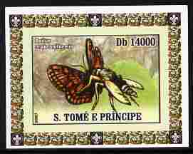 St Thomas & Prince Islands 2007 Animals & Butterflies #1 imperf individual deluxe sheet unmounted mint. Note this item is privately produced and is offered purely on its thematic appeal