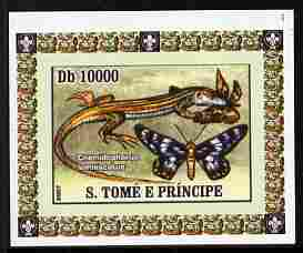 St Thomas & Prince Islands 2007 Animals & Butterflies #2 imperf individual deluxe sheet unmounted mint. Note this item is privately produced and is offered purely on its thematic appeal