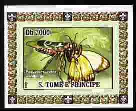 St Thomas & Prince Islands 2007 Animals & Butterflies #4 imperf individual deluxe sheet unmounted mint. Note this item is privately produced and is offered purely on its thematic appeal