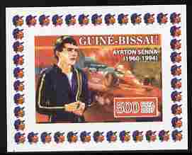 Guinea - Bissau 2007 Ayrton Senna #2 imperf individual deluxe sheet unmounted mint. Note this item is privately produced and is offered purely on its thematic appeal