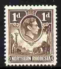 Northern Rhodesia 1938-52 KG6 1d brown unmounted mint, SG 27