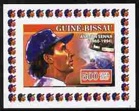 Guinea - Bissau 2007 Ayrton Senna #3 imperf individual deluxe sheet unmounted mint. Note this item is privately produced and is offered purely on its thematic appeal