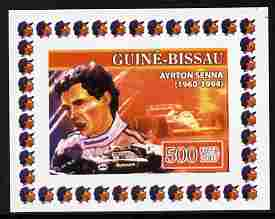 Guinea - Bissau 2007 Ayrton Senna #4 imperf individual deluxe sheet unmounted mint. Note this item is privately produced and is offered purely on its thematic appeal