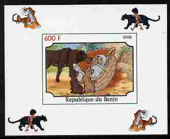 Benin 2008 Disney's Jungle Book #1 imperf individual deluxe sheet unmounted mint. Note this item is privately produced and is offered purely on its thematic appeal