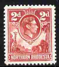 Northern Rhodesia 1938-52 KG6 2d carmine unmounted mint, SG 32