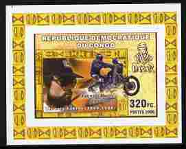 Congo 2006 Transport - Paris-Dakar Rally #1 - Motorcycles imperf individual deluxe sheet unmounted mint. Note this item is privately produced and is offered purely on its thematic appeal