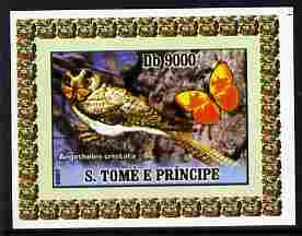 St Thomas & Prince Islands 2007 Animals & Butterflies #5 imperf individual deluxe sheet unmounted mint. Note this item is privately produced and is offered purely on its thematic appeal