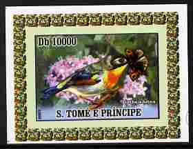 St Thomas & Prince Islands 2007 Animals & Butterflies #6 imperf individual deluxe sheet unmounted mint. Note this item is privately produced and is offered purely on its thematic appeal