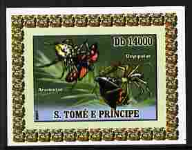 St Thomas & Prince Islands 2007 Animals & Butterflies #8 imperf individual deluxe sheet unmounted mint. Note this item is privately produced and is offered purely on its thematic appeal