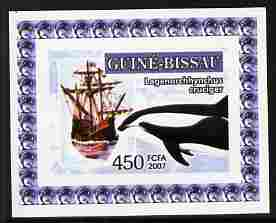 Guinea - Bissau 2007 Dolphins & Tall Ships #3 imperf individual deluxe sheet unmounted mint. Note this item is privately produced and is offered purely on its thematic appeal