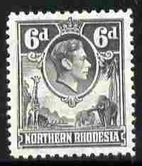 Northern Rhodesia 1938-52 KG6 6d grey unmounted mint, SG 38