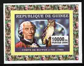 Guinea - Conakry 2006 Ornithologusts & Birds - Buffon - imperf individual deluxe sheet unmounted mint. Note this item is privately produced and is offered purely on its thematic appeal as Yv 363