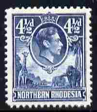 Northern Rhodesia 1938-52 KG6 4.5d blue unmounted mint, SG 37