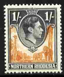 Northern Rhodesia 1938-52 KG6 1s yellow-brown & black unmounted mint, SG 40