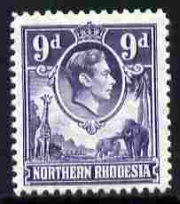 Northern Rhodesia 1938-52 KG6 9d violet unmounted mint, SG 39