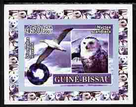 Guinea - Bissau 2007 International Polar Year - Birds #4 imperf individual deluxe sheet unmounted mint. Note this item is privately produced and is offered purely on its thematic appeal