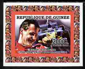 Guinea - Conakry 2006 Michael Schumacher - F1 Champion #1 imperf individual deluxe sheet unmounted mint. Note this item is privately produced and is offered purely on its thematic appeal as Yv 2733