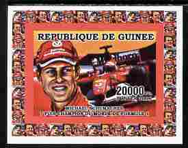Guinea - Conakry 2006 Michael Schumacher - F1 Champion #2 imperf individual deluxe sheet unmounted mint. Note this item is privately produced and is offered purely on its thematic appeal as Yv 2733
