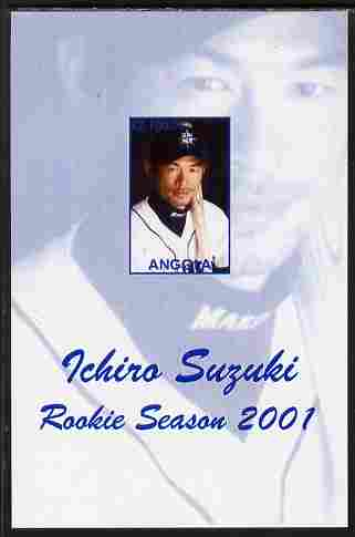 Angola 2001 Baseball Rookie Season - Ichiro Suzuki imperf s/sheet unmounted mint. Note this item is privately produced and is offered purely on its thematic appeal